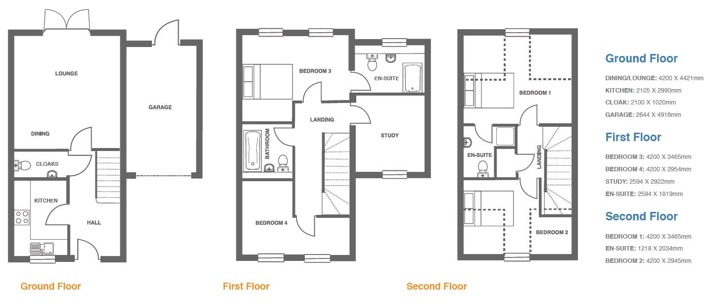 Woodbury Walk, Plot 13 floor plan
