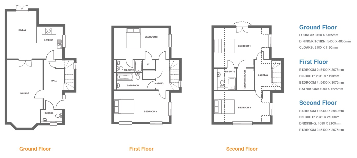 Woodbury Walk, Plot 16 floor plan