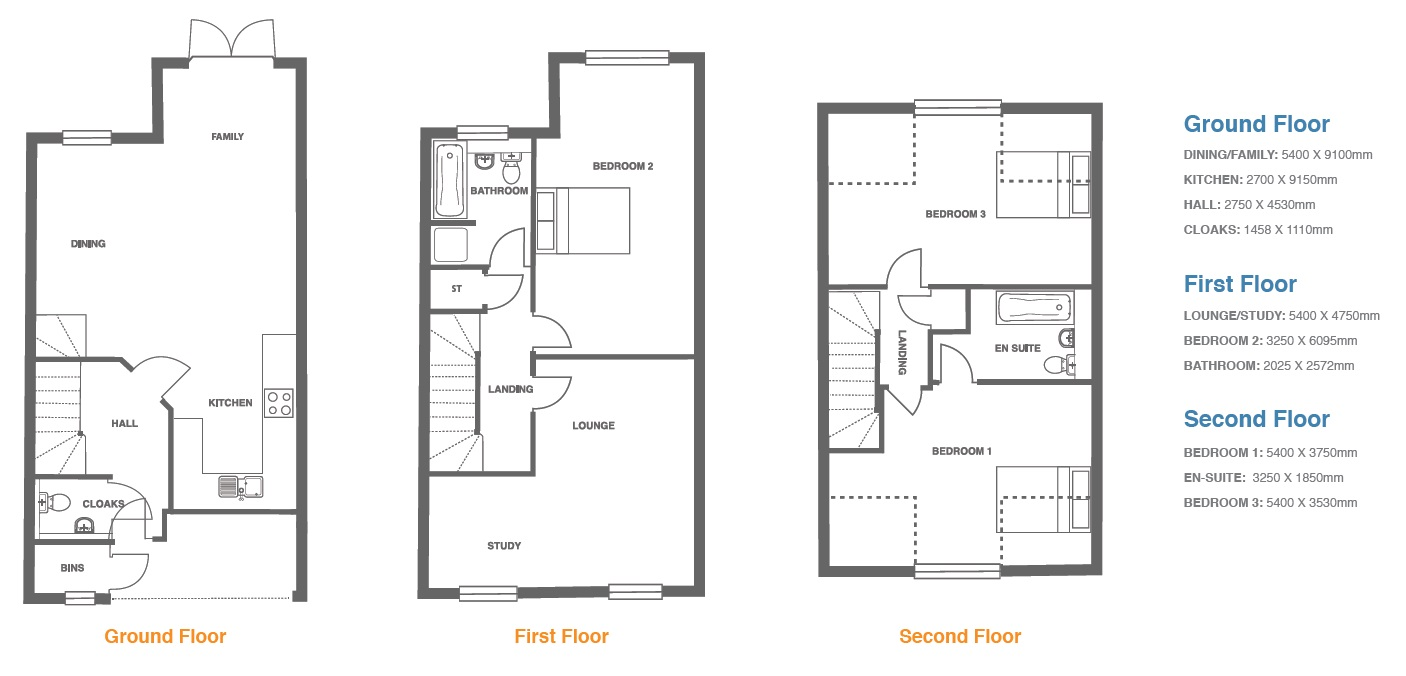 Woodbury Walk, Plot 17 floor plan