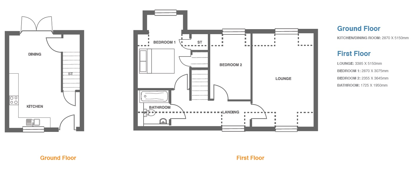 Woodbury Walk, Plot 8 floor plan