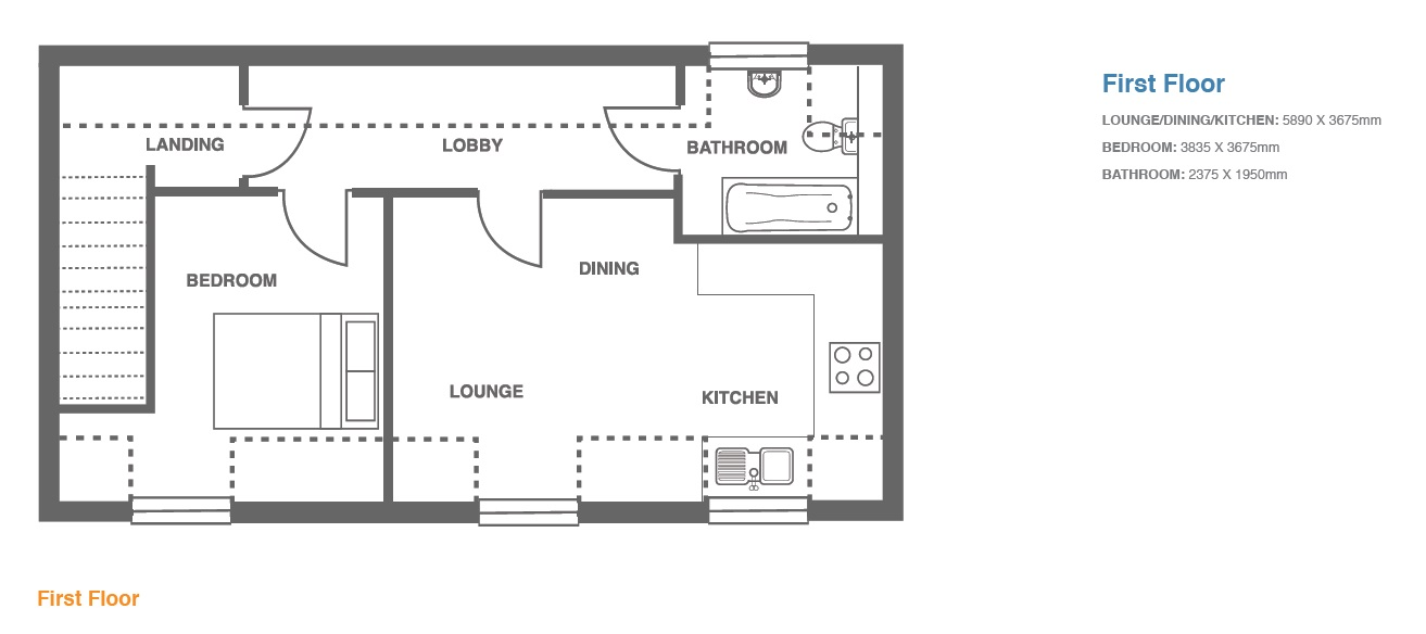 Woodbury Walk, Plot 9 floor plan