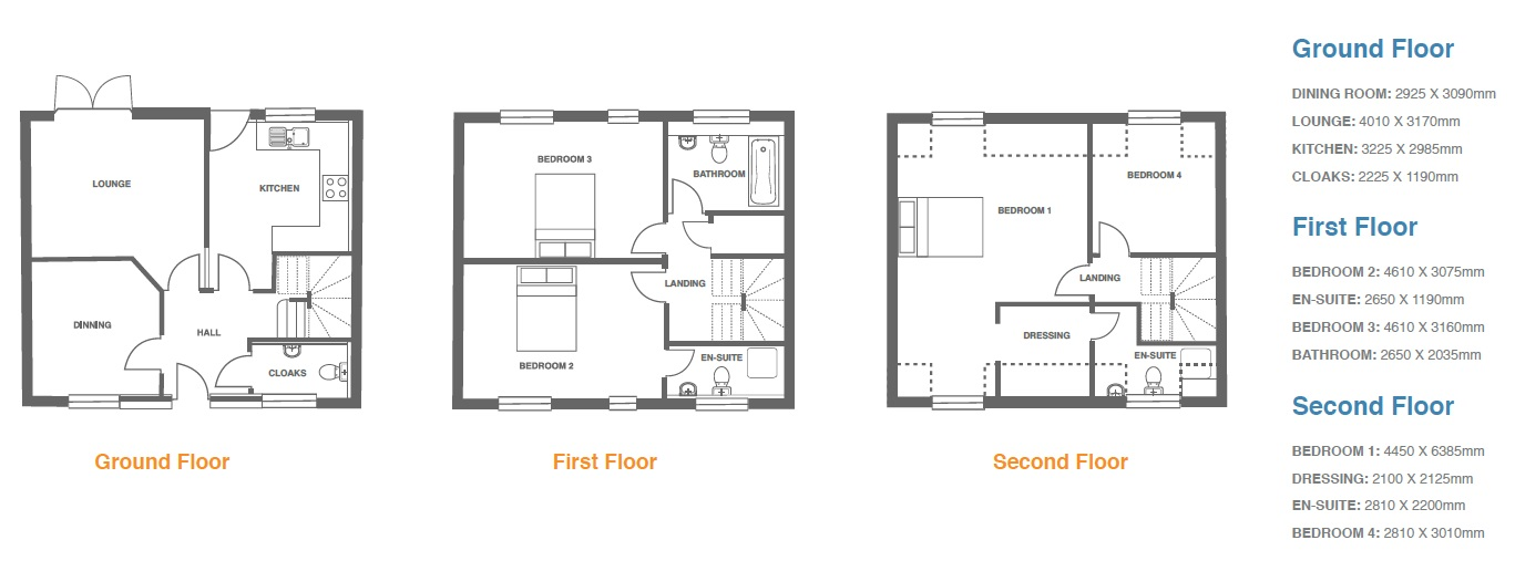 Woodbury Walk, Plot 10 floor plan