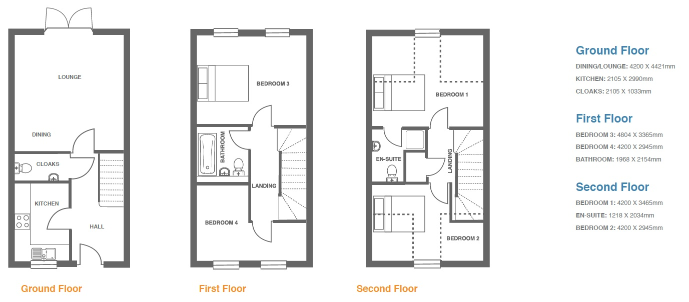 Woodbury Walk, Plot 14 floor plan