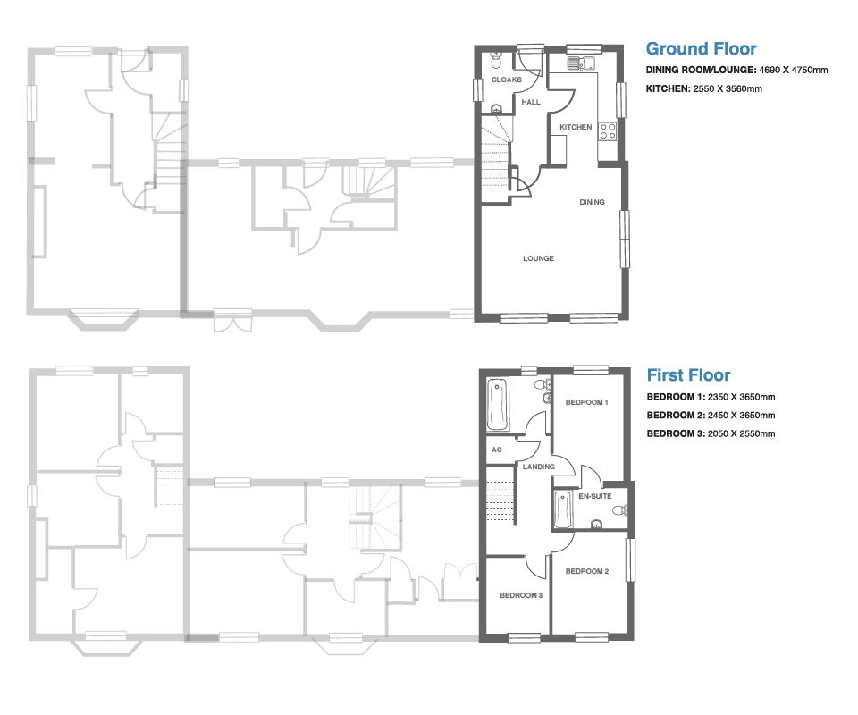 Ivy Manor, Plot 3 floor plan