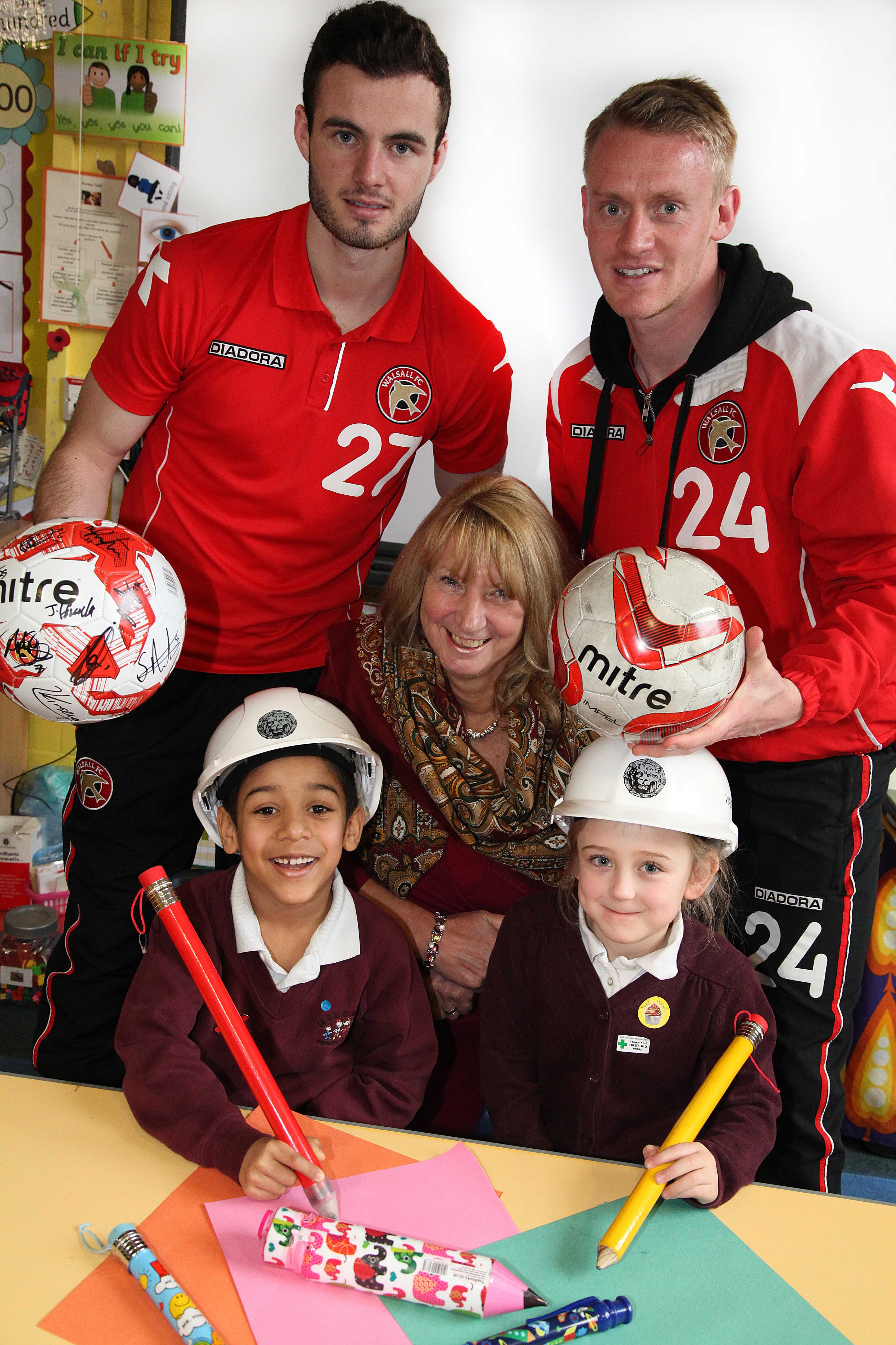 Walsall art competition is kicked-off by football stars image