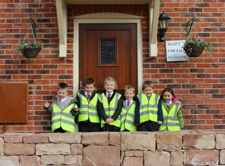 Caverswall primary school children make their mark image
