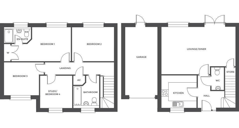 Swallowhurst, Plot 16 floor plan