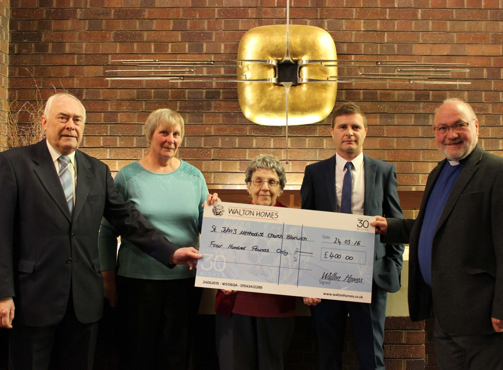 Walton Homes donates £400 to Bloxwich Church Communities image