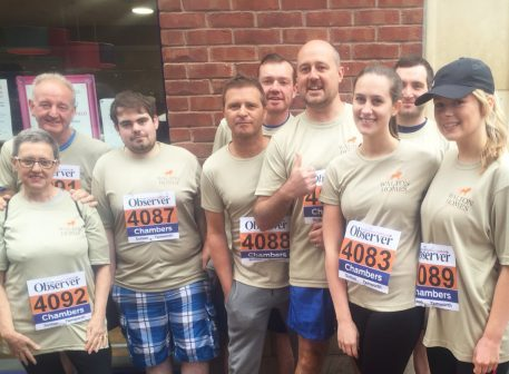 Walton Homes runners raise more than £1,000 for Violet's Memorial Garden image