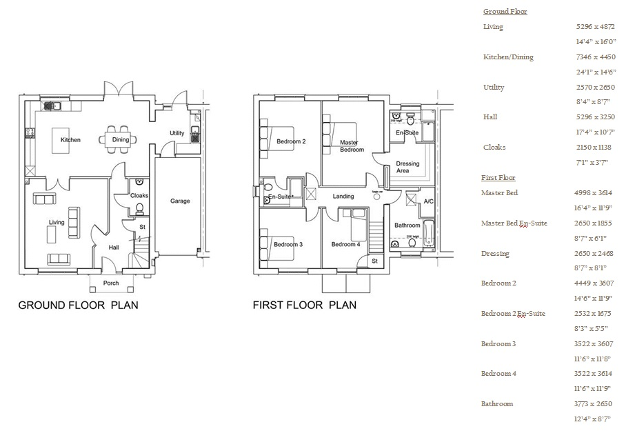 Harcourt Gardens, Plot 2 floor plan
