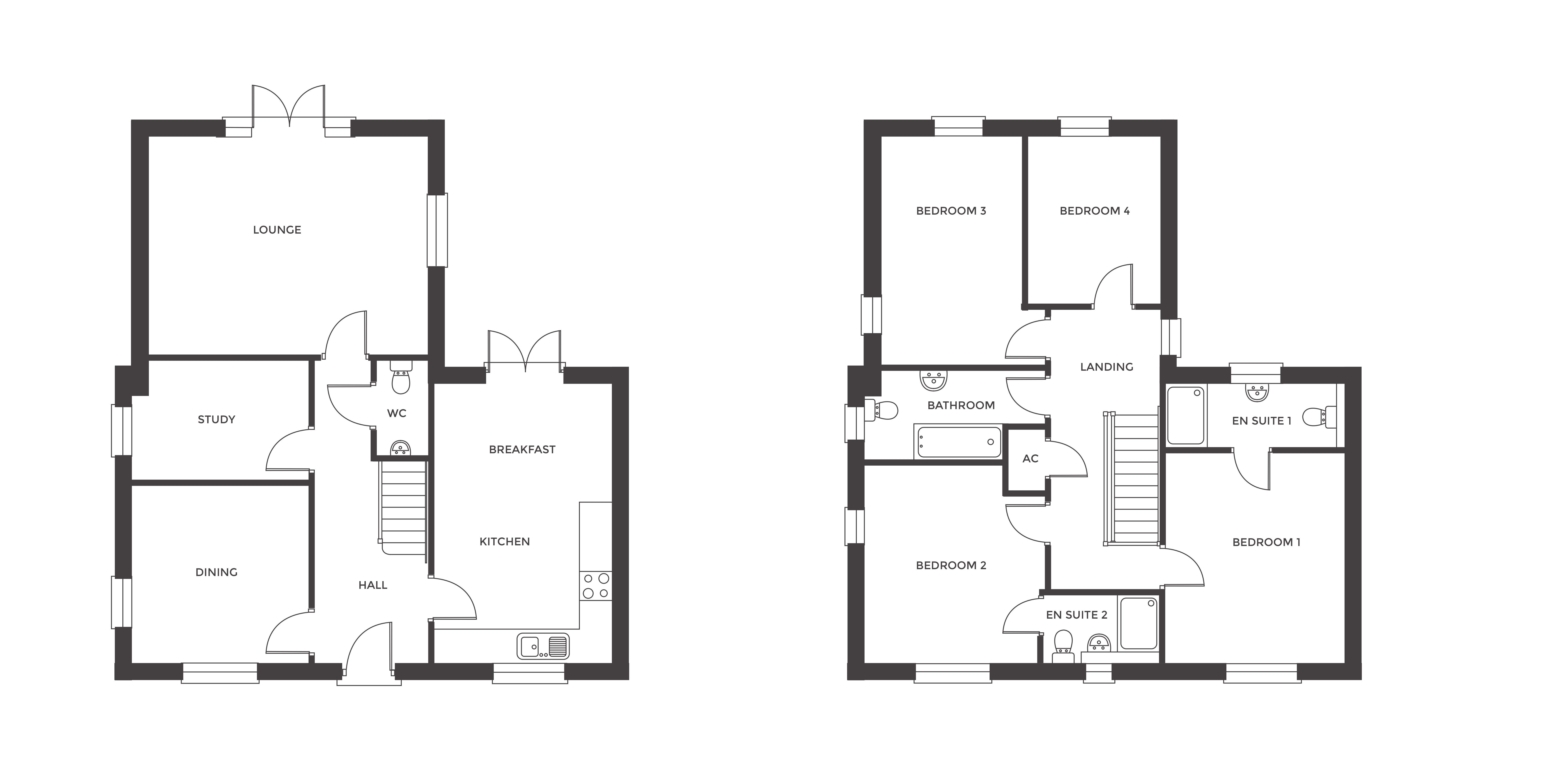 Redfern Rise, Plot 4 floor plan