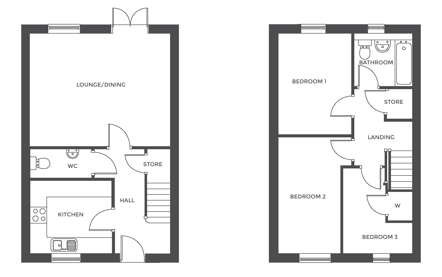 Repington Walk, Plot 20 floor plan