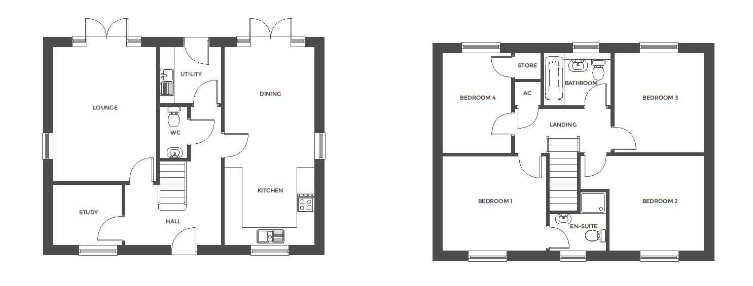Repington Walk, Plot 1 floor plan