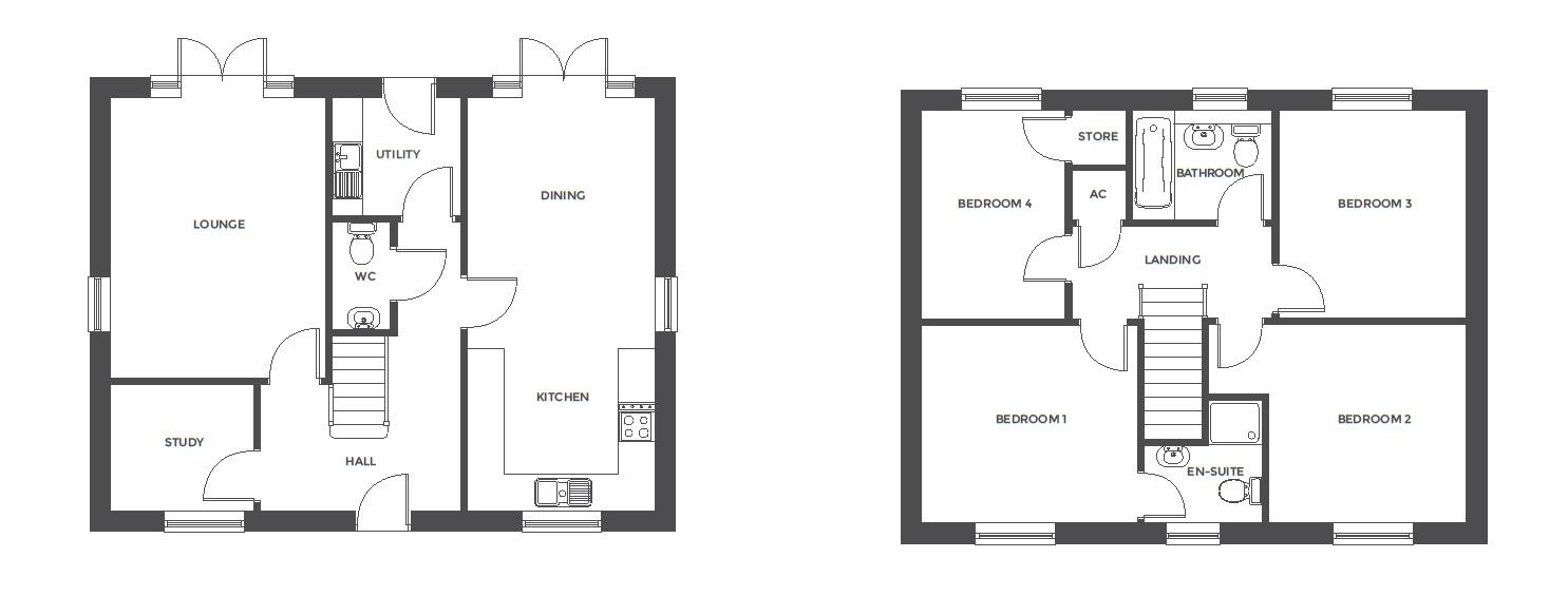 Repington Walk, Plot 1 floor plan