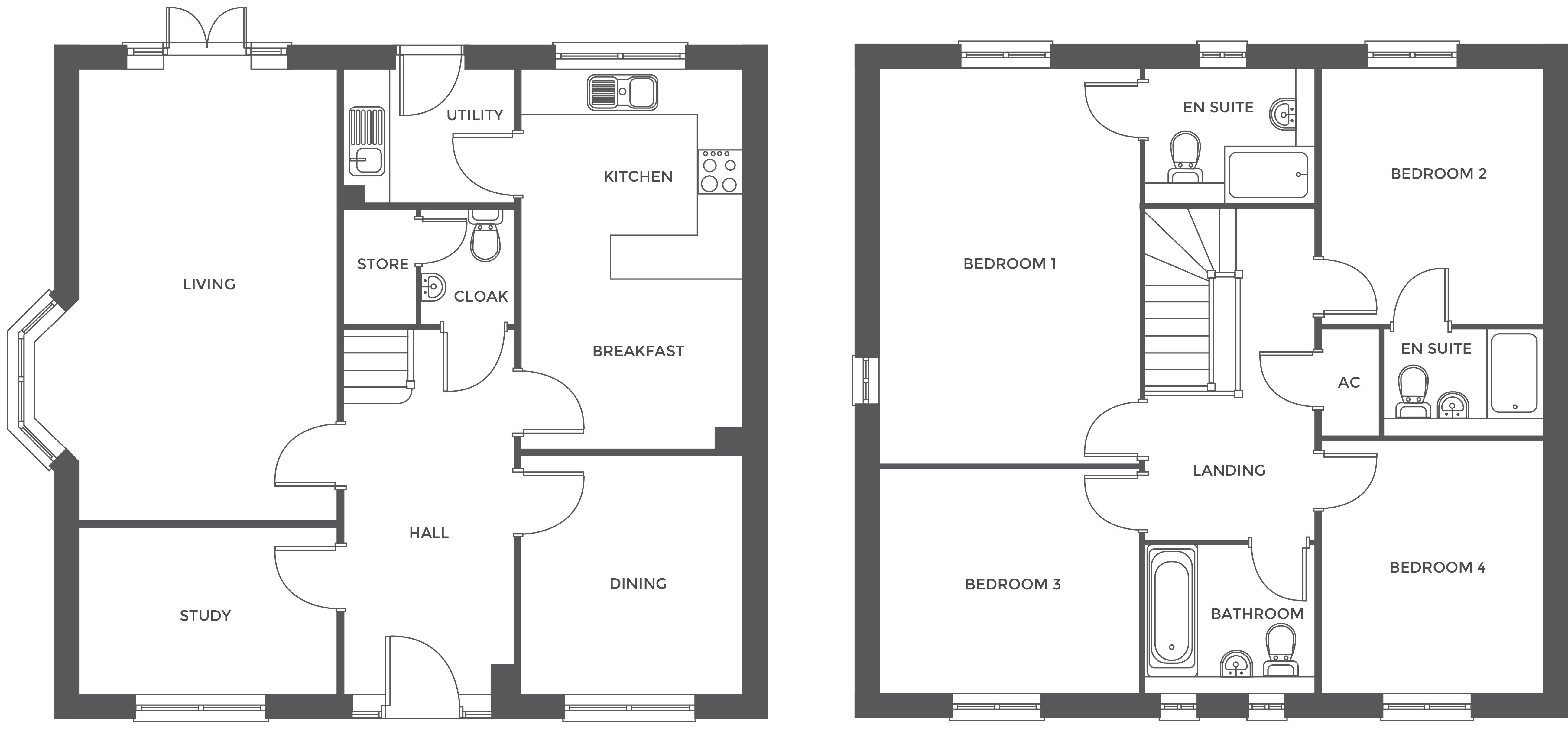 Walton Croft, Plot 1 floor plan