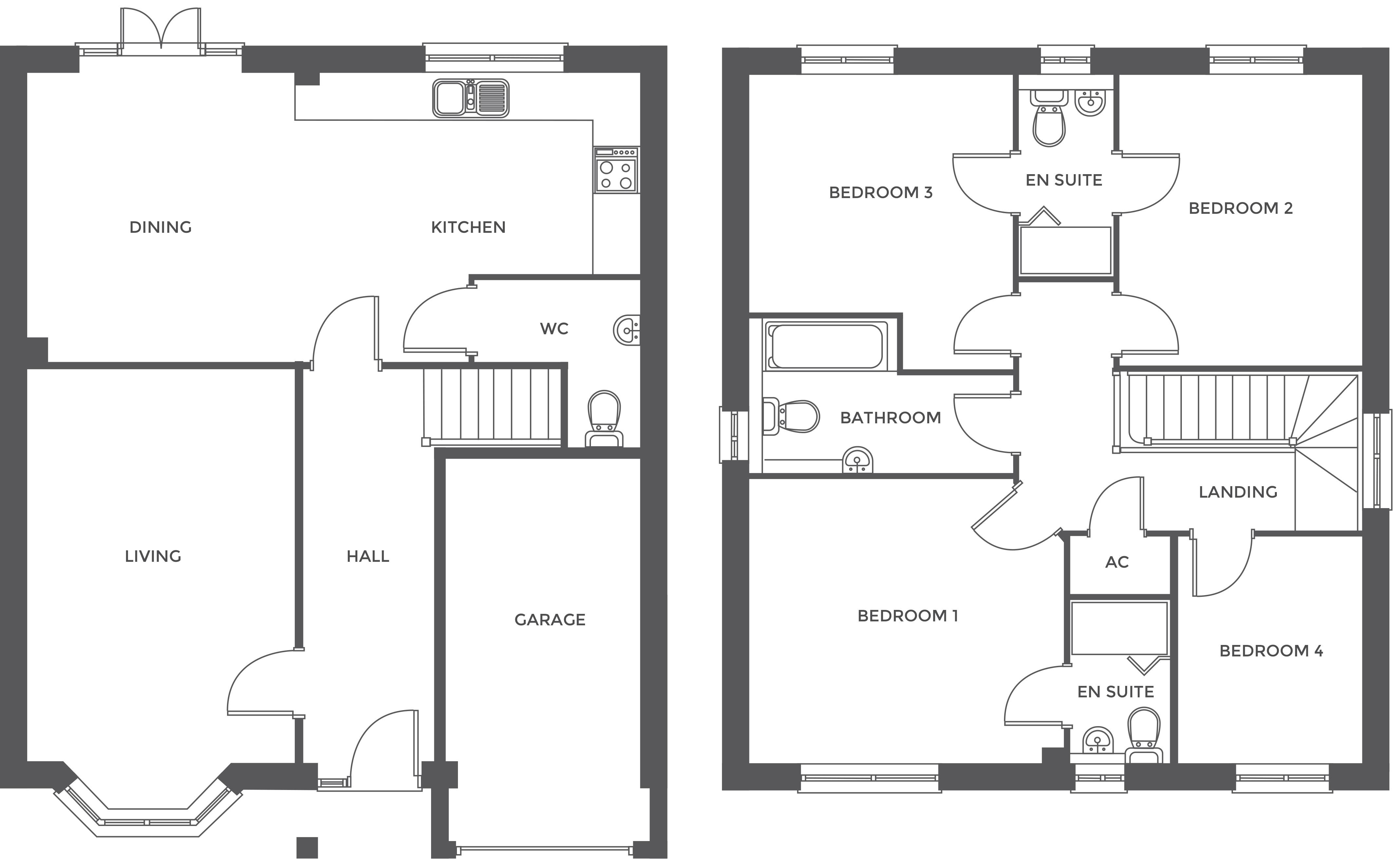 Walton Croft, Plot 4 floor plan