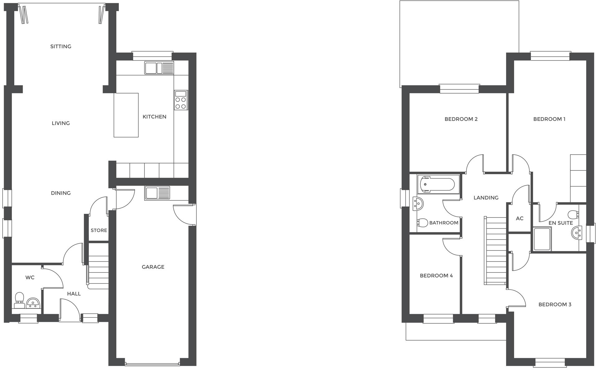 Hathorn Manor, Plot 4 floor plan