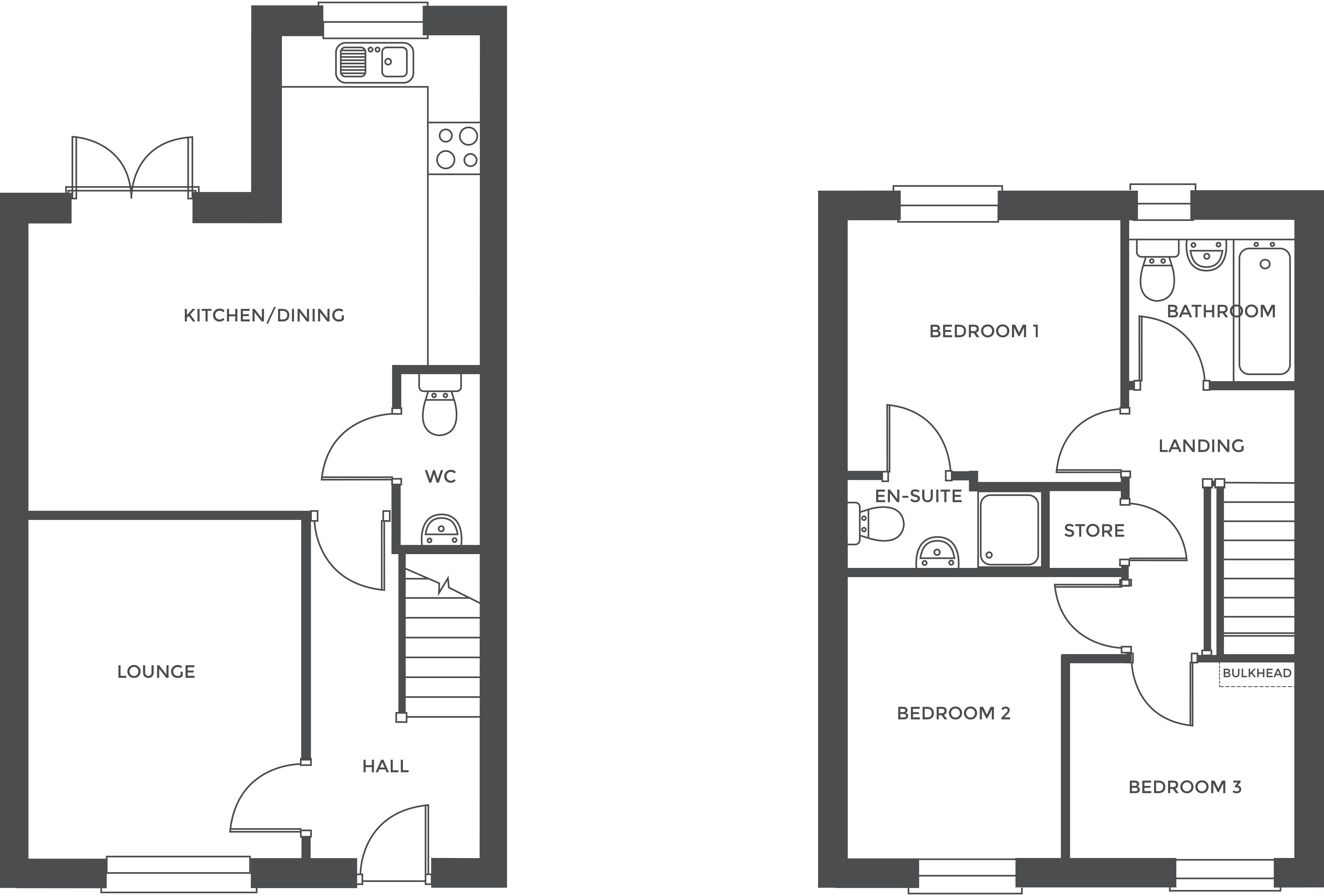 Creswell Croft, Plot 14 floor plan