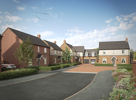 Work underway on Walton Homes' 26 property development in the Derbyshire Countryside image