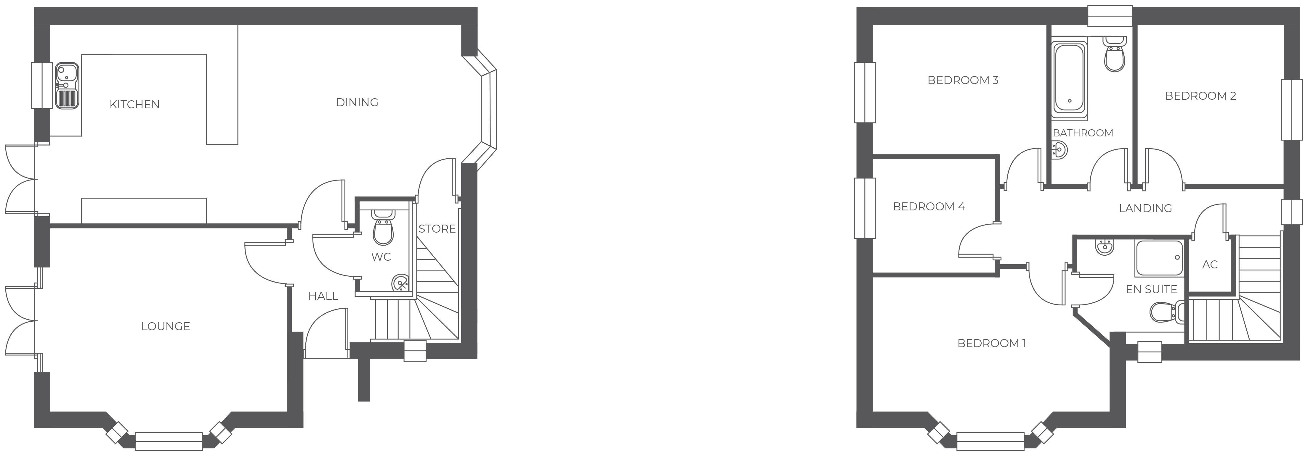 Ferrer's Chase, Plot 1 floor plan