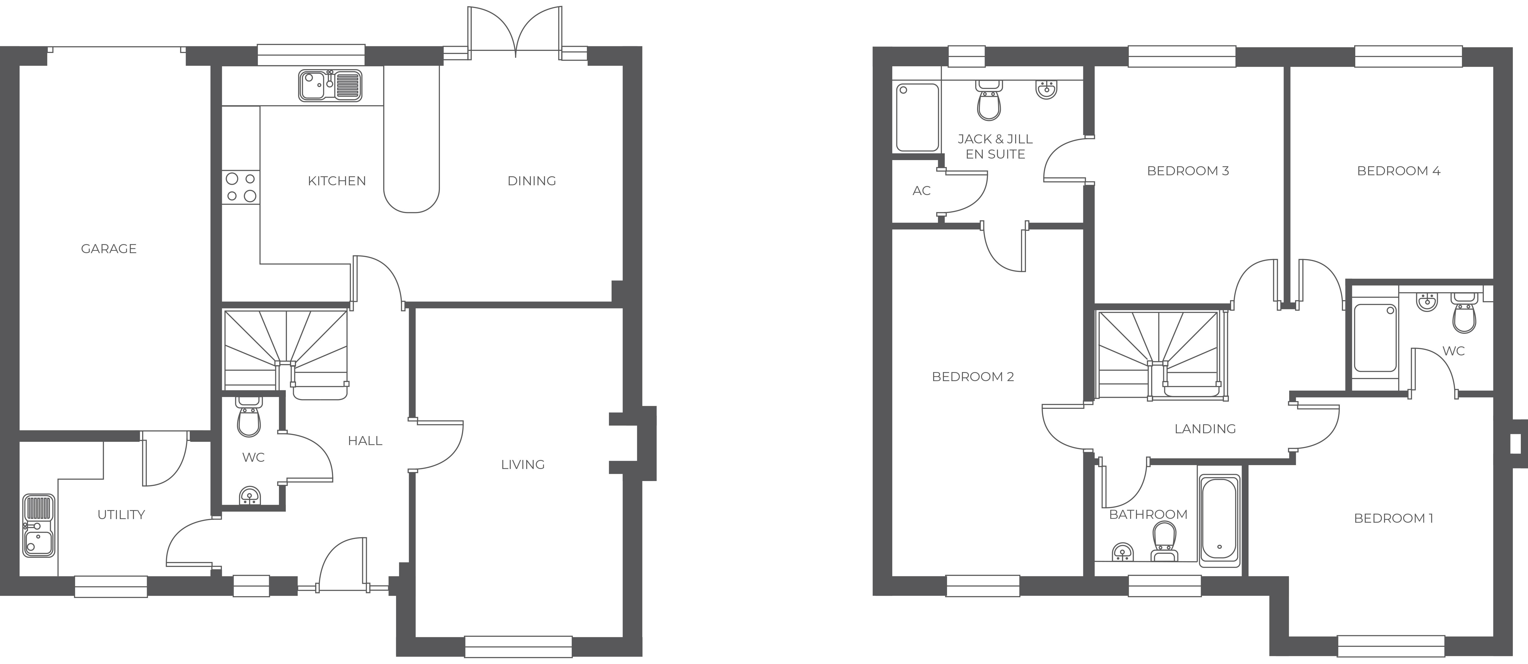 Ferrer's Chase, Plot 23 floor plan