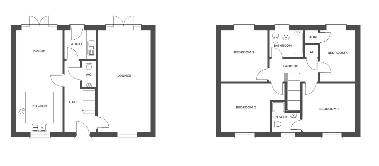Acresford Park, Plot 46 floor plan