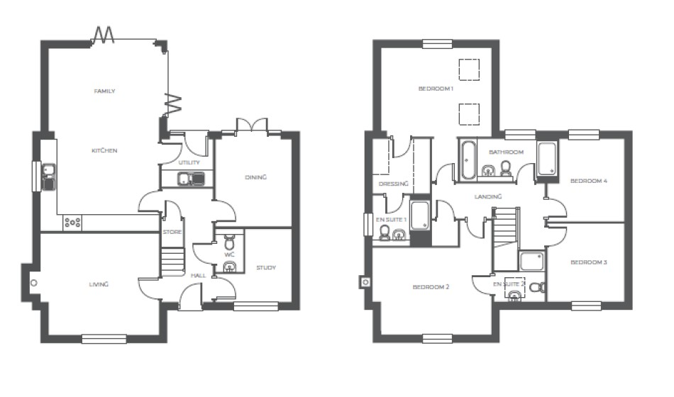 Wellswood Grange, Plot 4 floor plan