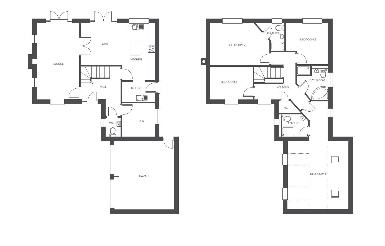 Acresford Park, plot 54 floor plan