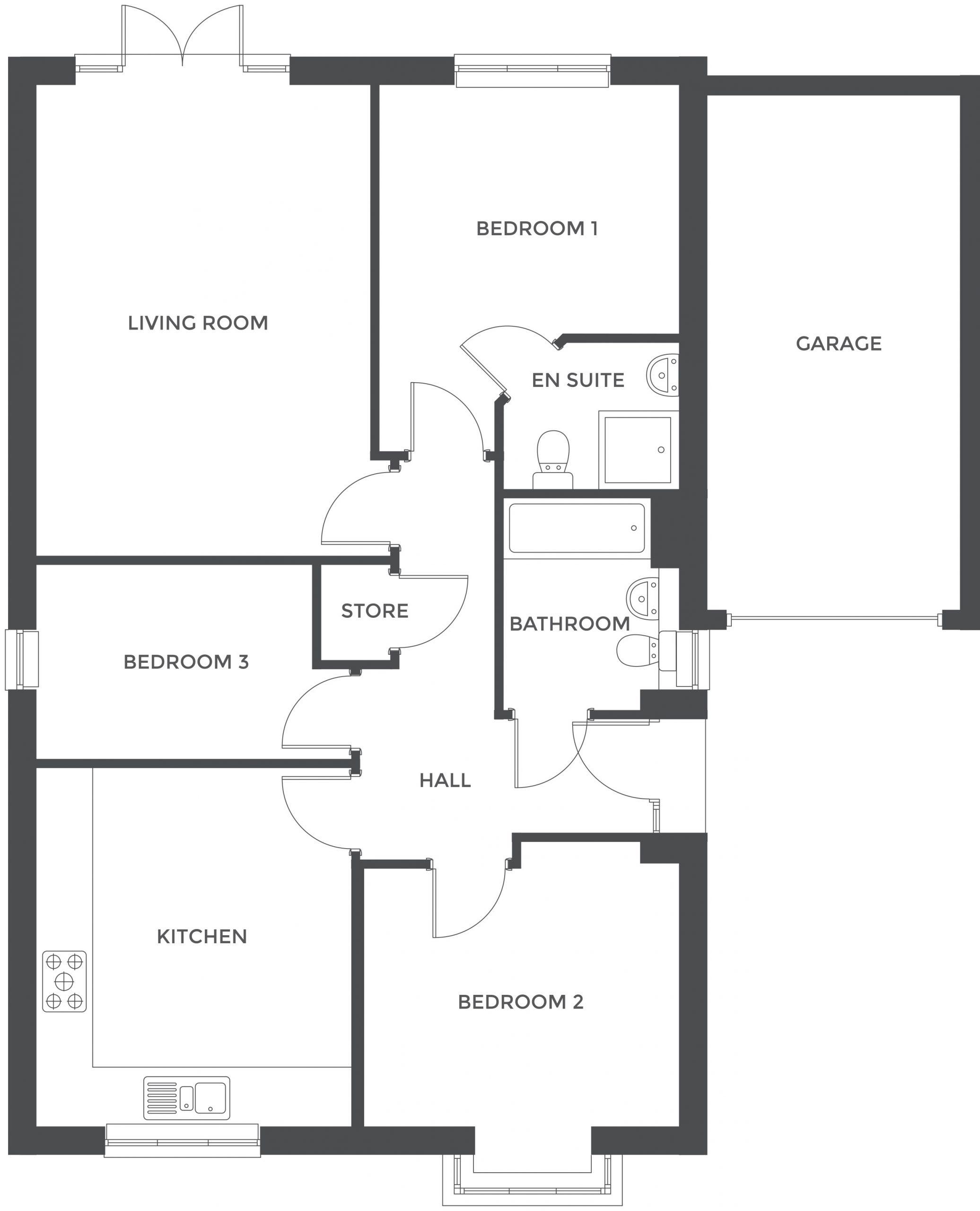 Augustus Fields, Plot 19 floor plan