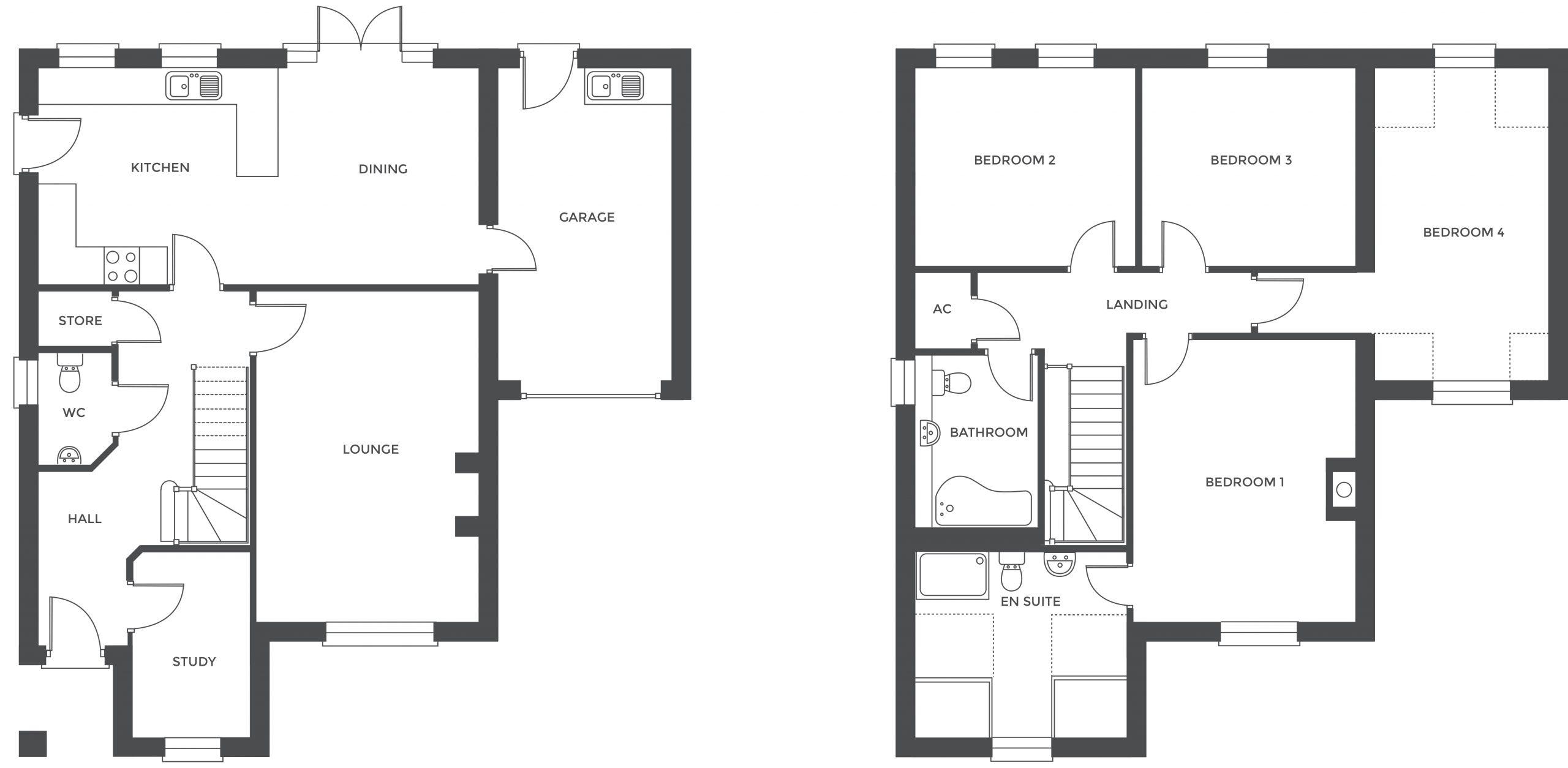 Acresford Park, Plot 56 floor plan
