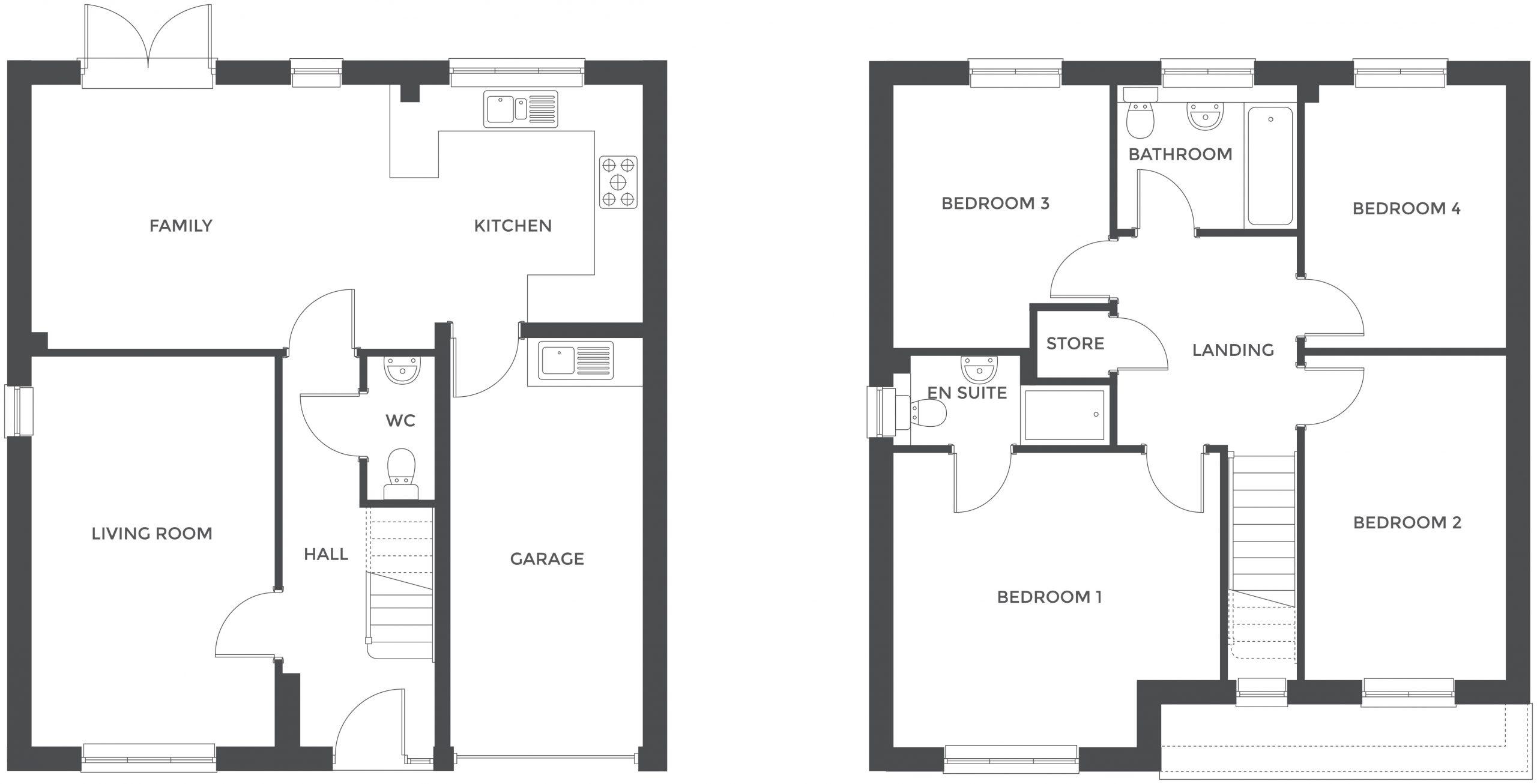 Augustus Fields, Plot 12 floor plan